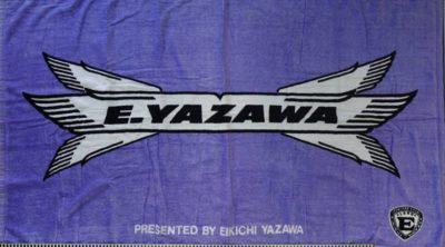 ビーチタオル 青/白/黒 羽ロゴ CONCERT TOUR1990