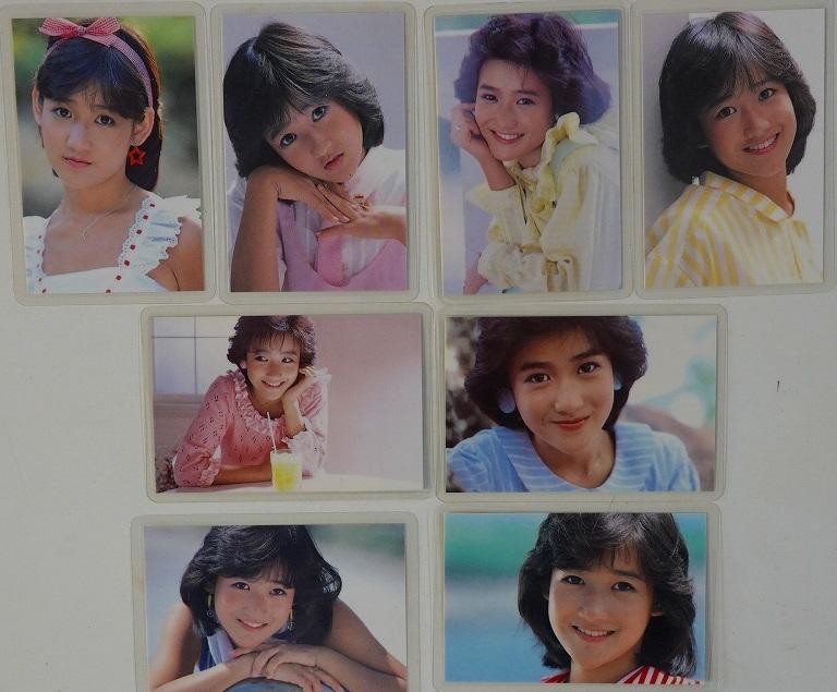 岡田有希子ブロマイド8種類8枚セット