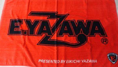 ビーチタオル 赤/黒 定番ロゴ