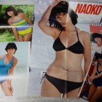 河合奈保子セット 水着ビキニポスター 雑誌切り抜き 小型カレンダー1984年